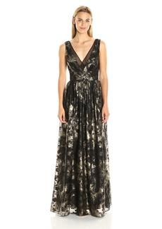 Vera Wang Women's Burnout Organza Silk Gown