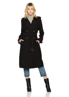 Vera Wang Women's Chelsea Trench Coat With Tie Belt  S