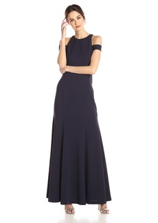Vera Wang Women's Cold Shoulder Gown Starry Night