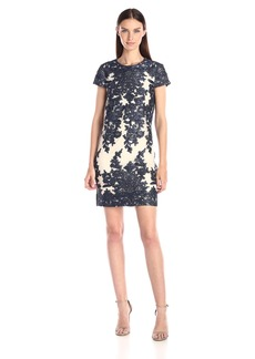 Vera Wang Women's Embellished Mesh Dress