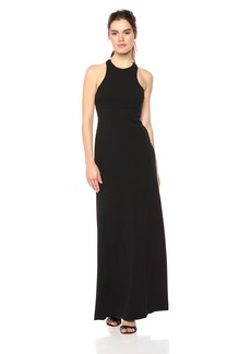 Vera Wang Women's Fitted Gown with Back Detail
