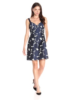 Vera Wang Women's Floral Jacquard Dress