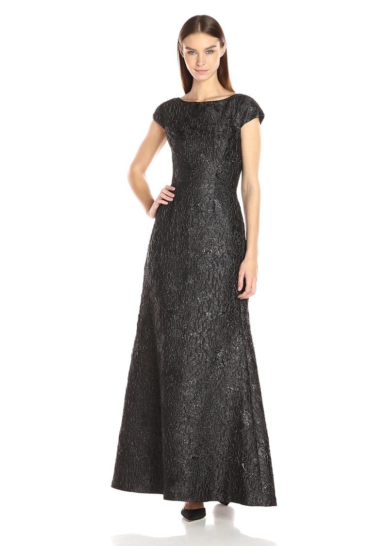 Vera Wang Vera Wang Women\'s Jacquard Gown   Dresses