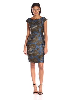 Vera Wang Women's Jacquard Sheath Dress