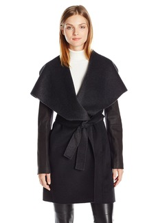 Vera Wang Women's Jamie Double Face Wrap Coat