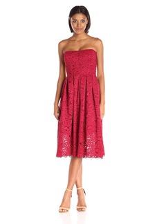 Vera Wang Women's Lace Strapless Dress