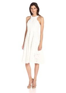 Vera Wang Women's Lace Tea Length Dress