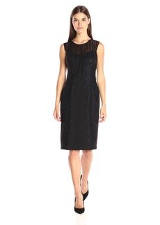 Vera Wang Women's Little Dress with Illusion Neck