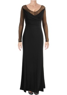 Vera Wang Women's Long Gown with Sheer Sleeves