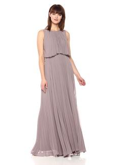 Vera Wang Women's Popover Chiffon Gown