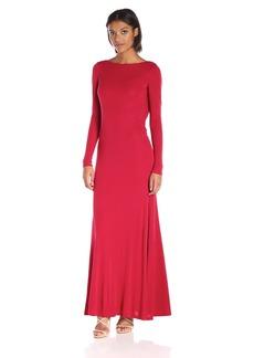 Vera Wang Women's Rayon Jersy Long Sleeve Maxi Dress