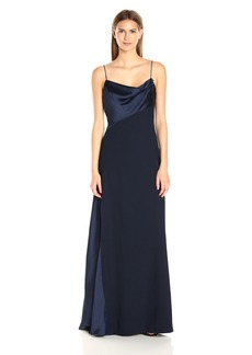 Vera Wang Women's Scuba Crepe Long Slip Dress