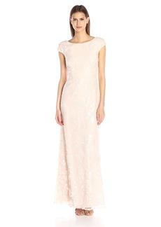 Vera Wang Women's Sequins Chiffon Gown