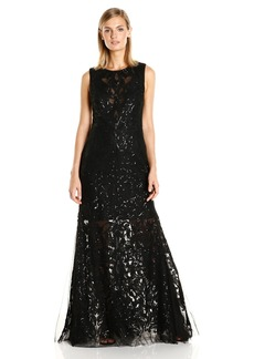 Vera Wang Women's Sequins Embellished Gown