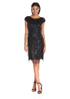 Vera Wang Women's Sequins Embellished Sheath Dress