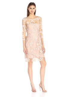Vera Wang Women's Sequins Lace Cocktail Dress
