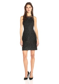 Vera Wang Women's Short Cocktail Dress With Sequins
