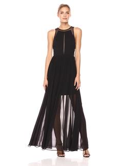 Vera Wang Women's Sleeveless Cutout Gown With Short Lining