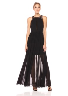 Vera Wang Women's Sleeveless Cutout Gown with Short Lining