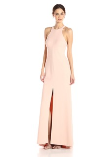 Vera Wang Women's Sleeveless Gown with Cutout Back