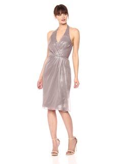 Vera Wang Women's Sleeveless Halter Cocktail Dress