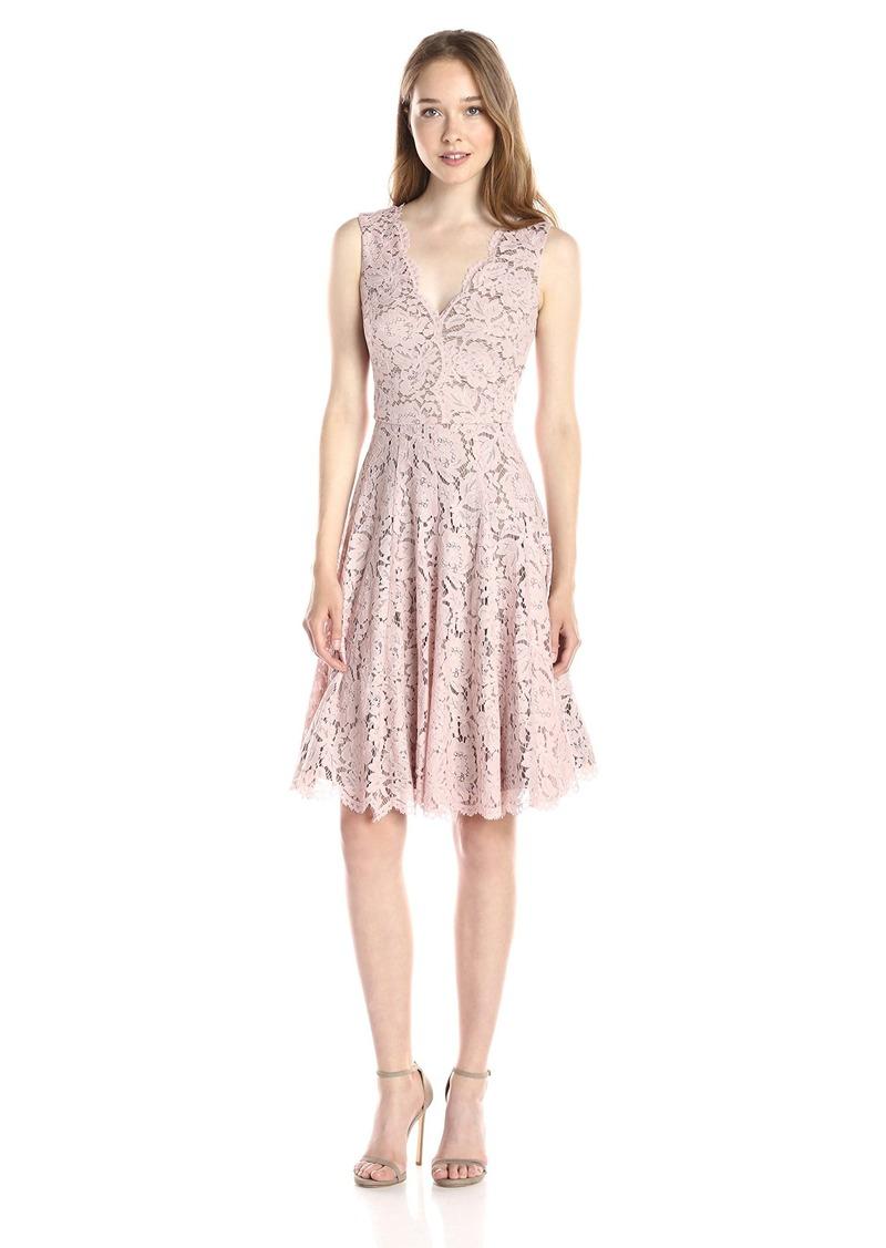 Vera Wang Vera Wang Women\'s Sleeveless Lace Cocktail Dress With ...