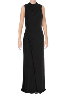 Vera Wang Women's Sleeveless Mock Neck Gown