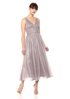 Vera Wang Women's Sleeveless Tea Length Cocktail Dress