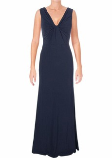 Vera Wang Women's Sleeveless Twist Front Gown