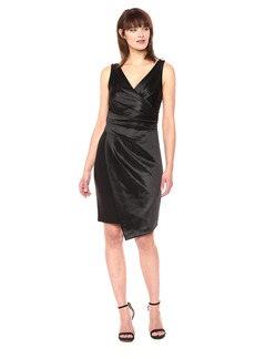 Vera Wang Women's Sleeveless V Neck Cocktail Dress