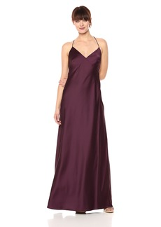 Vera Wang Women's Slip Gown with Criss Cross Back
