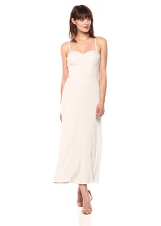 Vera Wang Women's Strapless Corset Tea Length Dress