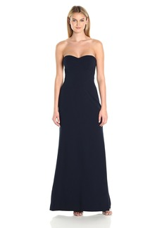 Vera Wang Women's Strapless Sweetheart Neckline Gown Attachable Straps