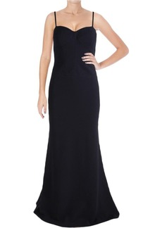 Vera Wang Women's Strapless Sweetheart Neckline Gown with Attachable Straps