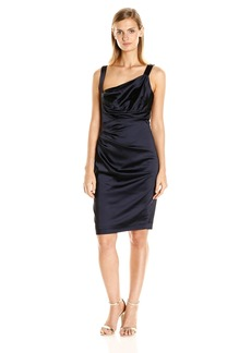 Vera Wang Women's Stretch Satin Short Cocktail Dress