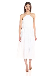Vera Wang Women's Tee Length Halter Lace Cocktail Dress