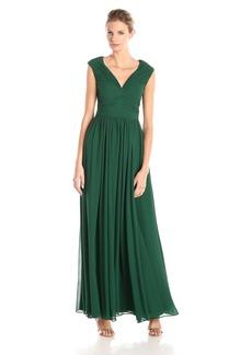 Vera Wang Women's V Neck Chiffon Dress