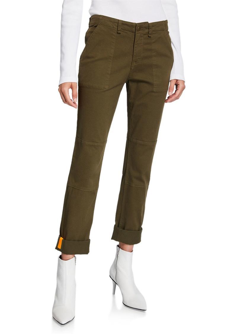 Veronica Beard Adrina Skinny Army Pants with Cuffs