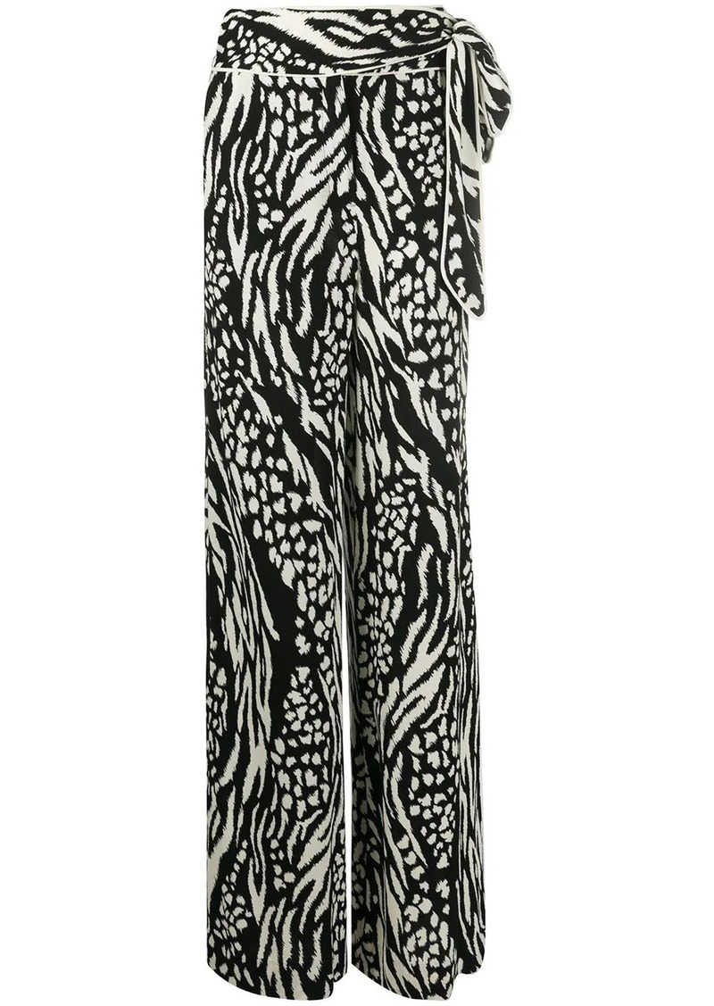 Veronica Beard all-over print trousers