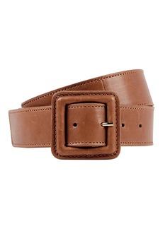 Veronica Beard Aluma Calf Leather Belt