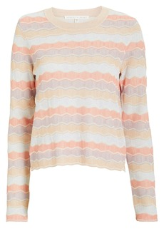 Veronica Beard Alyssa Striped Crew Pull-Over