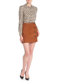 Veronica Beard Ana Suede Mini Skirt