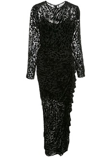 Veronica Beard animal pattern fitted dress