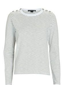 Veronica Beard Annemarie Striped Long Sleeve T-Shirt