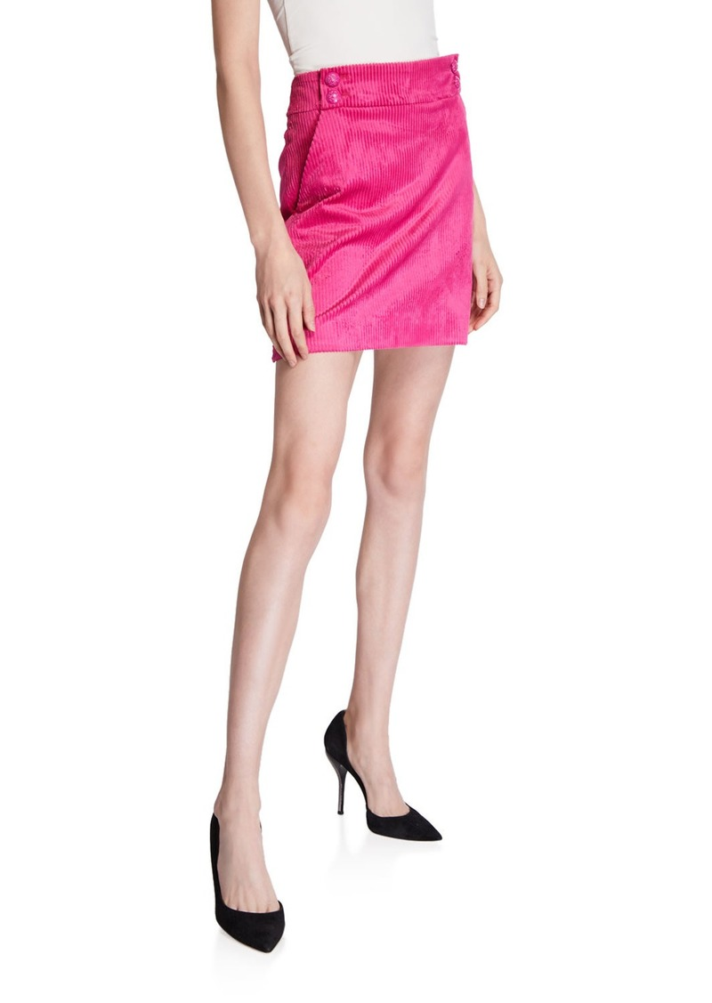 Veronica Beard Arezzo Corduroy Mini Skirt