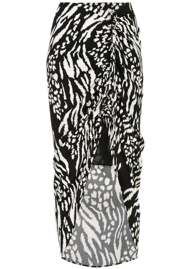 Veronica Beard Ari animal print skirt
