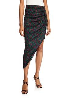 Veronica Beard Ari Ruched Asymmetrical Skirt