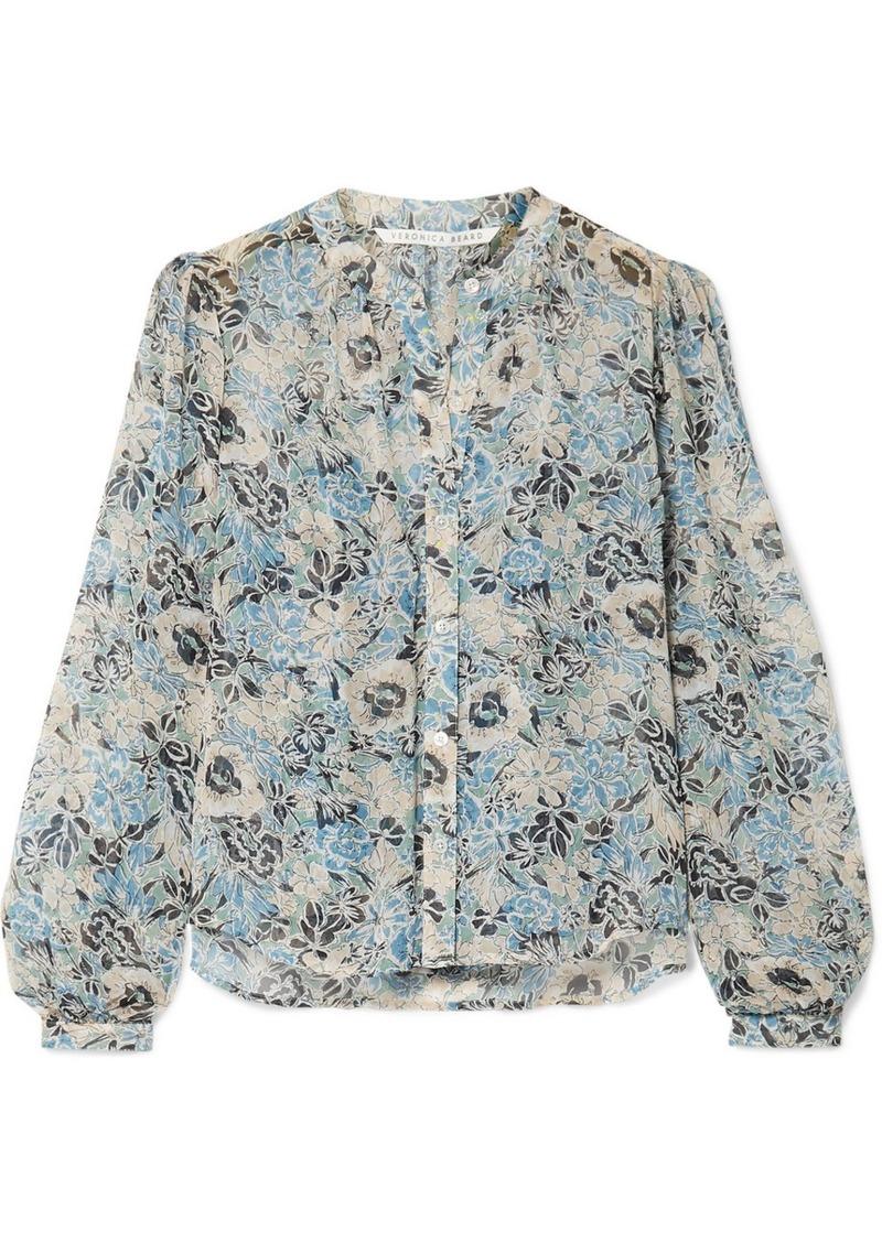 Veronica Beard Ashlynn Floral-print Silk-chiffon Blouse