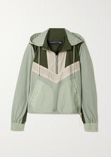 Veronica Beard Avery Color-block Shell Hooded Jacket
