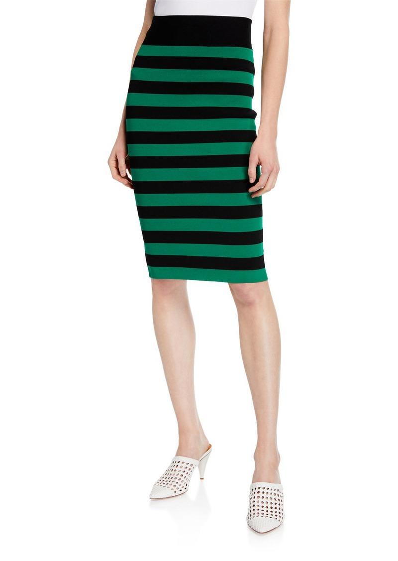 Veronica Beard Baker Striped Pencil Skirt